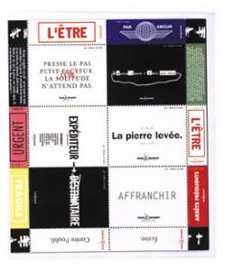 Planche de timbres pour Amnesty International