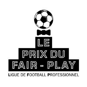 LFP Logo, trophée et diplôme du Prix du Fair-Play pour la Ligue de Football Professionnel.