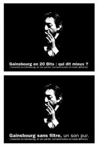 Conception-rédaction d'accroches Serge Gainsourg – Polygram lors de la réédition de ses morceaux en son parfait, remasterisé (projet ajourné par la maison de disques).