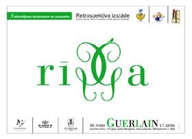 Affiche annonçant l'exposition de la Maison Guerlain à Riga, dans le cadre du Printemps Français en Lettonie. « Un hommage à la beauté et au printemps », et un petit oiseau posé sur le monogramme de la marque…