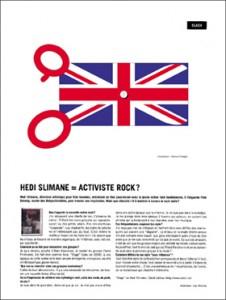 Hedi Slimane = activiste rock ?
