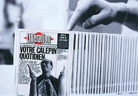 Toujours pour Libération, un « Objet-carte de vœoeux », en fait un calepin de poche dont le contenu s''efface sur un simple souffle.
