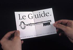Guide touristique, page d'ouverture (étude).