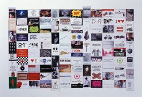 Un extrait des « petits coupons » de Fabrice Praeger (exposés de mai à septembre 2000, à la galerie Roger Tator (Lyon).