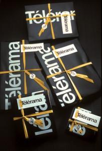Emballages cadeaux pour Télérama